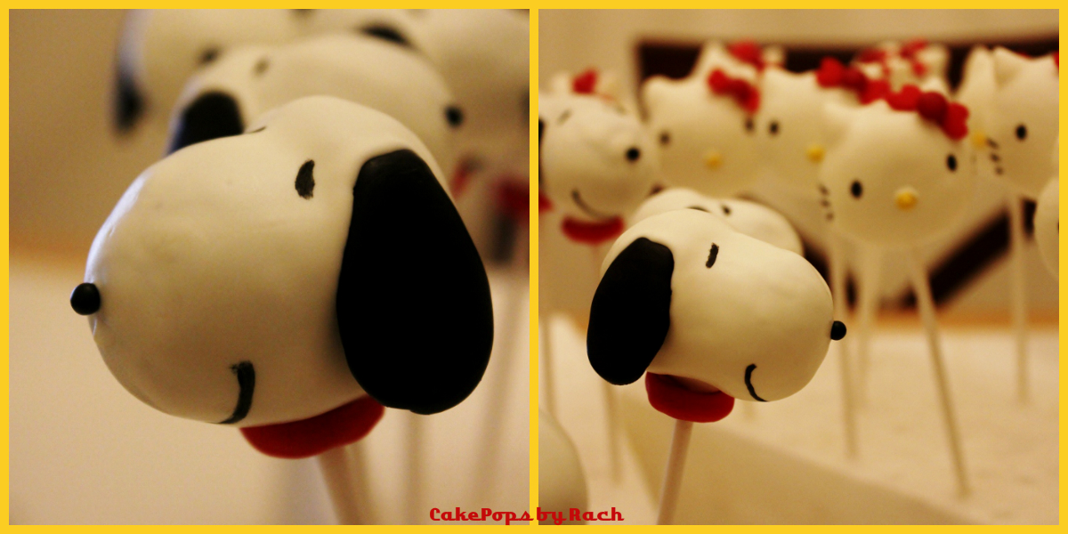Snoopy And Woodstock Cake Pops